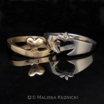 Claddagh band set